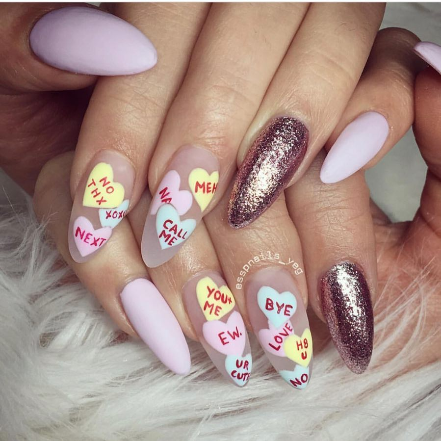 Ongles de la Saint-Valentin 2021: 70 belles idées de nail art
